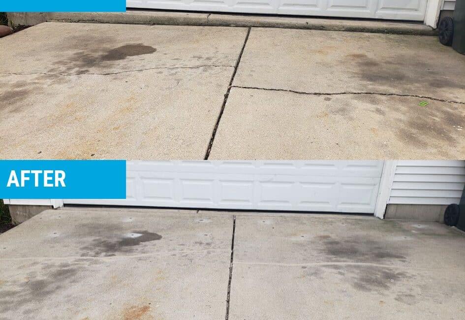 Sunken driveway south elgin polylift