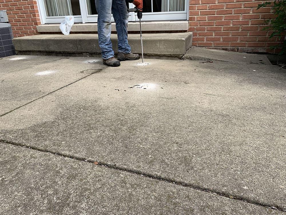 arlington heights patio repair raising