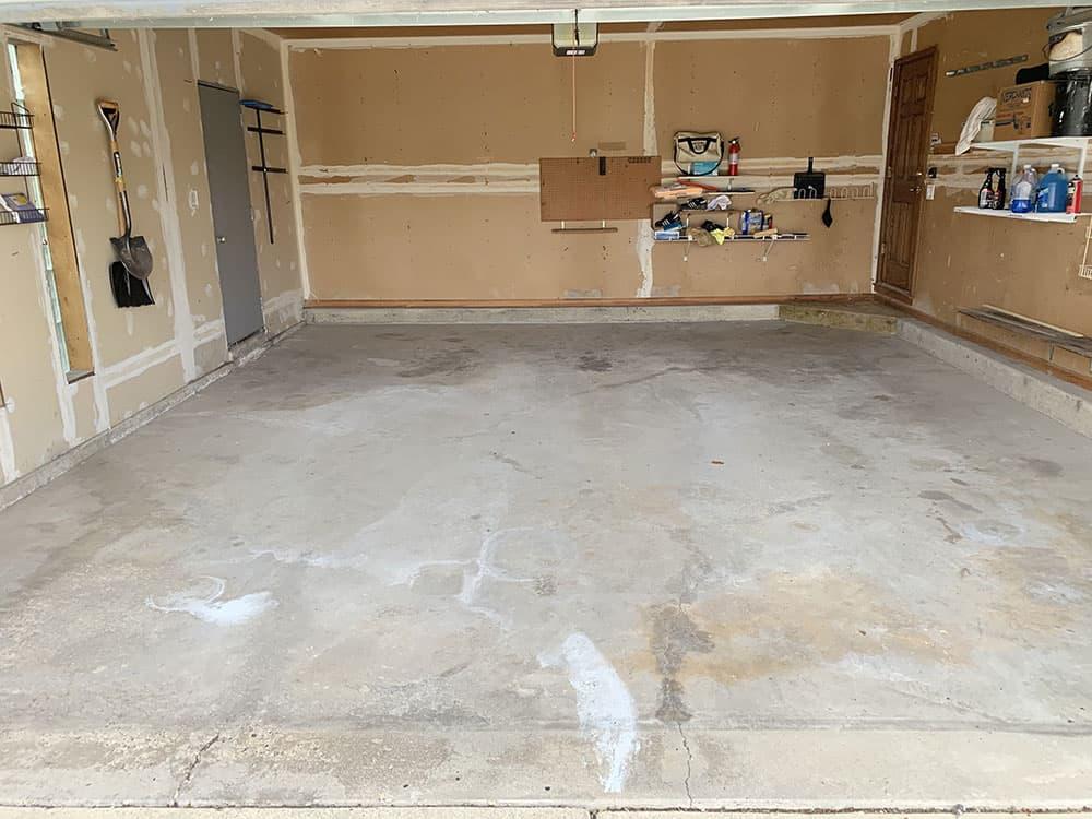 Naperville garage epoxy