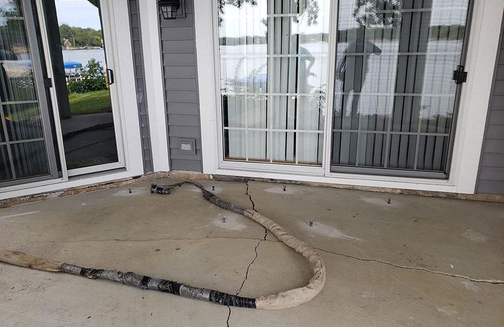 Lake Zurich patio repair lifting