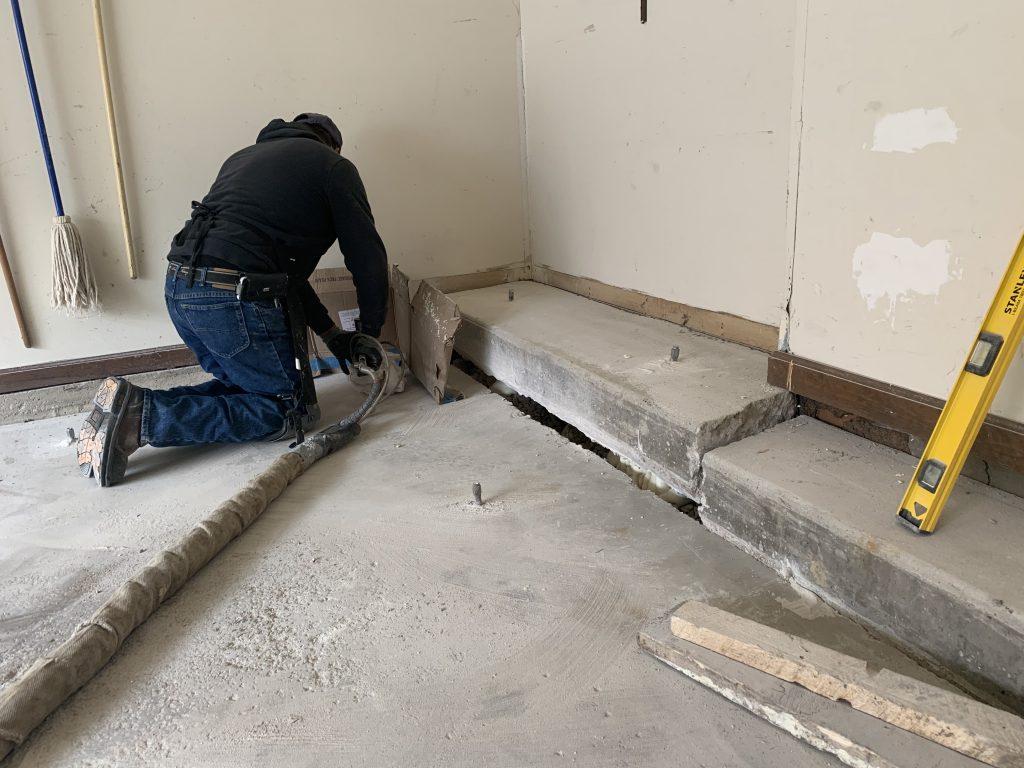 raising sunken garage floor in Naperville