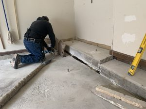 raising sunken garage floor in Naperville