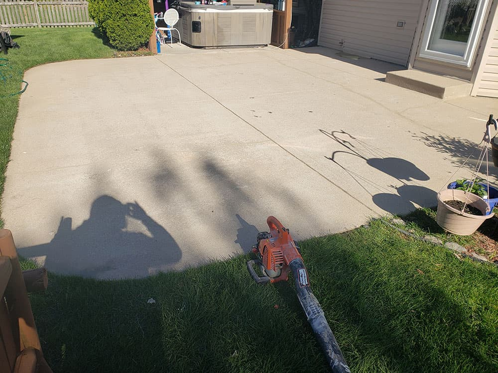 Naperville patio raised and caulked